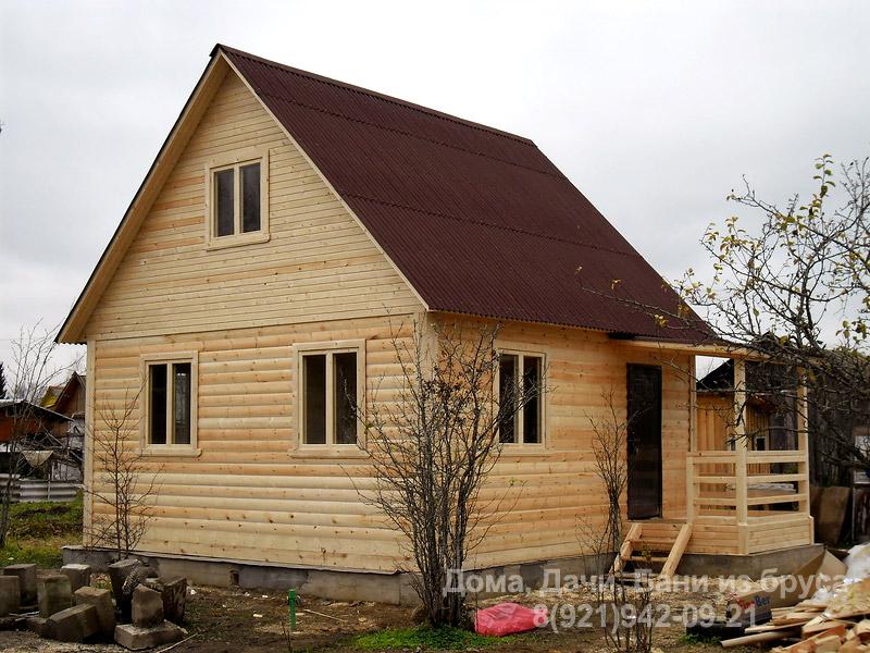 Дачные дома из бруса фото