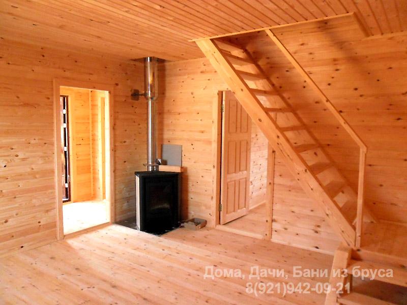 дома из профилированного бруса фото внутри дома